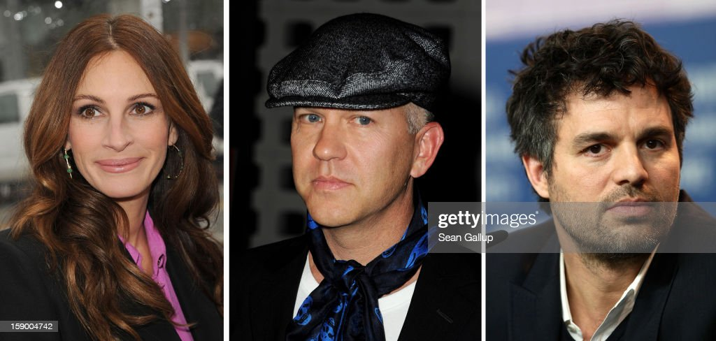 In this composite image a comparison has been made between (L-R) Julia Roberts, Ryan Murphy and Mark Ruffalo. Actors Julia Roberts and Mark Ruffalo will star in an HBO movie adaptation of the Larry Kramer play about AIDS 'The Normal Heart' which is to directed by Ryan Murphy. BERLIN - FEBRUARY 13: Actor Mark Ruffalo attends the 'Shutter Island' Press Conference during day three of the 60th Berlin International Film Festival at the Grand Hyatt Hotel on February 13, 2010 in Berlin, Germany.