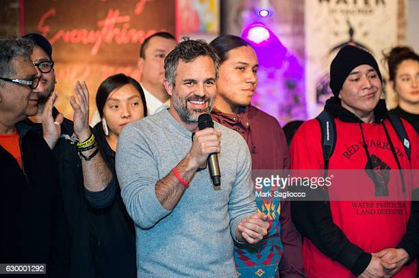 Actor Mark Ruffalo attends the Stand With Standing Rock Benefit at ABC Home Carpet on December 15 2016 in New York City