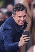Actor Mark Ruffalo enters the 'Good Morning America' taping at the ABC Times Square Studios on April 24 2015 in New York City
