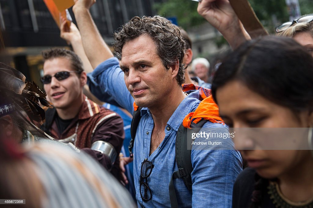 Actor <a gi-track='captionPersonalityLinkClicked' href='/galleries/personality/209317' ng-click='$event.stopPropagation()'>Mark Ruffalo</a> participates in the People's Climate March on September 21, 2014 in New York City. The march, which calls for drastic political and economic changes to slow global warming, has been organized by a coalition of unions, activists, politicians and scientists.