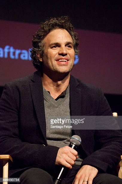Actor Mark Ruffalo speaks at The SAGAFTRA Foundation's Conversations Series at NYIT Auditorium on December 1 2015 in New York City