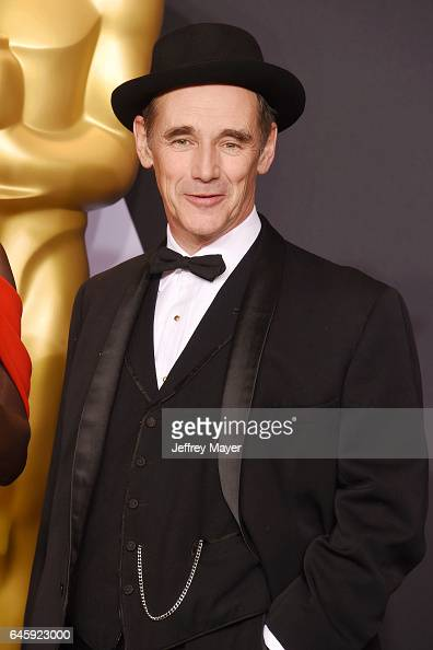 Actor Mark Rylance poses in the press room during the 89th Annual Academy Awards at Hollywood Highland Center on February 26 2017 in Hollywood...