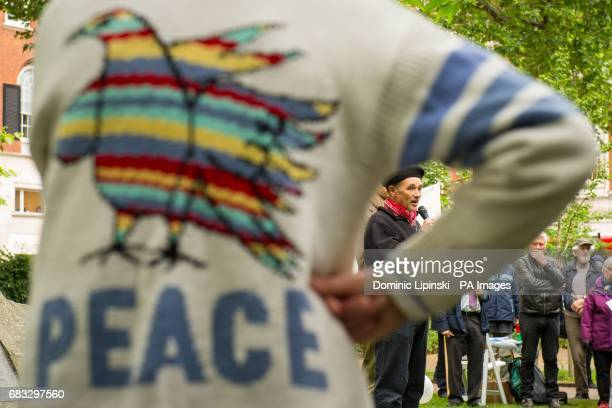 Actor Mark Rylance speaks at the annual Conscientious Objectors' Day ceremony at Tavistock Square London