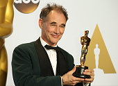 Actor Mark Rylance winner for Best Actor in a Supporting Role for 'Bridge of Spies' poses in the press room at the 88th Annual Academy Awards at...