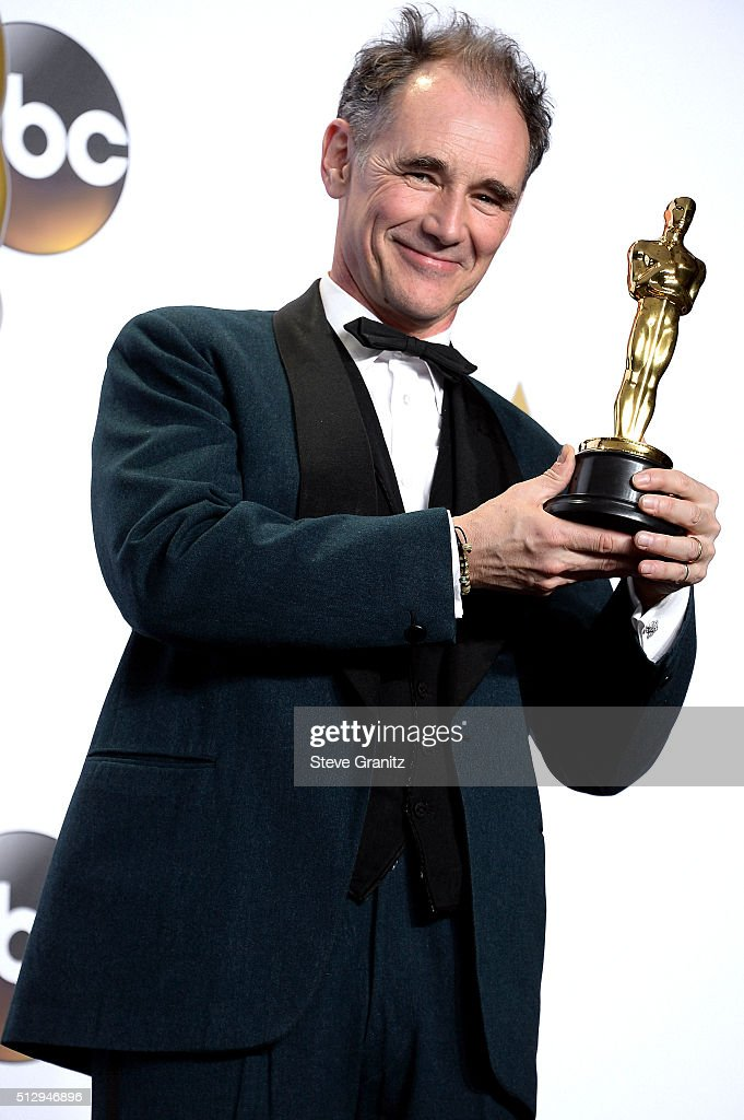 Actor Mark Rylance winner of the award for Best Actor in a Supporting Role for 'Bridge of Spies' poses in the press room during the 88th Annual...