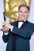 Actor Mark Rylance winner of the Best Actor in a Supporting Role award for 'Bridge of Spies' poses in the press room during the 88th Annual Academy...