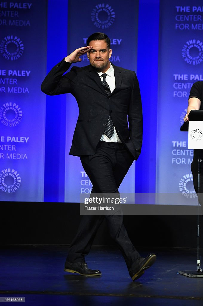 Actor Mark Salling arrives at The Paley Center For Media's 32nd Annual PALEYFEST LA 'Glee' at Dolby Theatre on March 13 2015 in Hollywood California