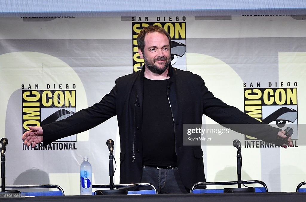 Actor Mark Sheppard attends the 'Supernatural' Special Video Presentation And QA during ComicCon International 2016 at San Diego Convention Center on...