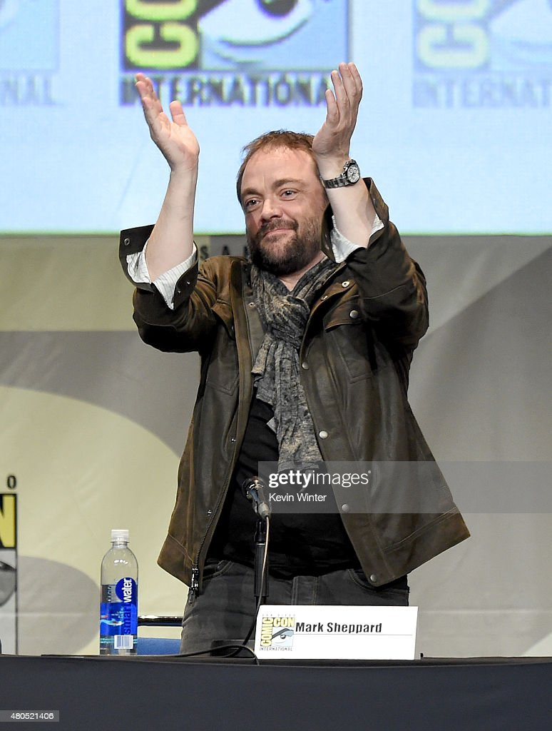 Actor Mark Sheppard speaks onstage at the 'Supernatural' panel during Comic-Con International 2015 at the San Diego Convention Center on July 12, 2015 in San Diego, California.