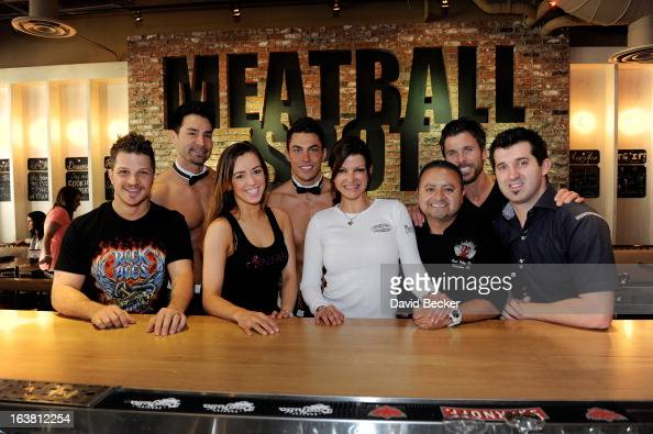 Actor Mark Shunock Chippendales dancer Juan DeAngelo Mariah of the production show 'Fantasy' Chippendales dancer Jon Howes chef Carla Pellegrino chef...