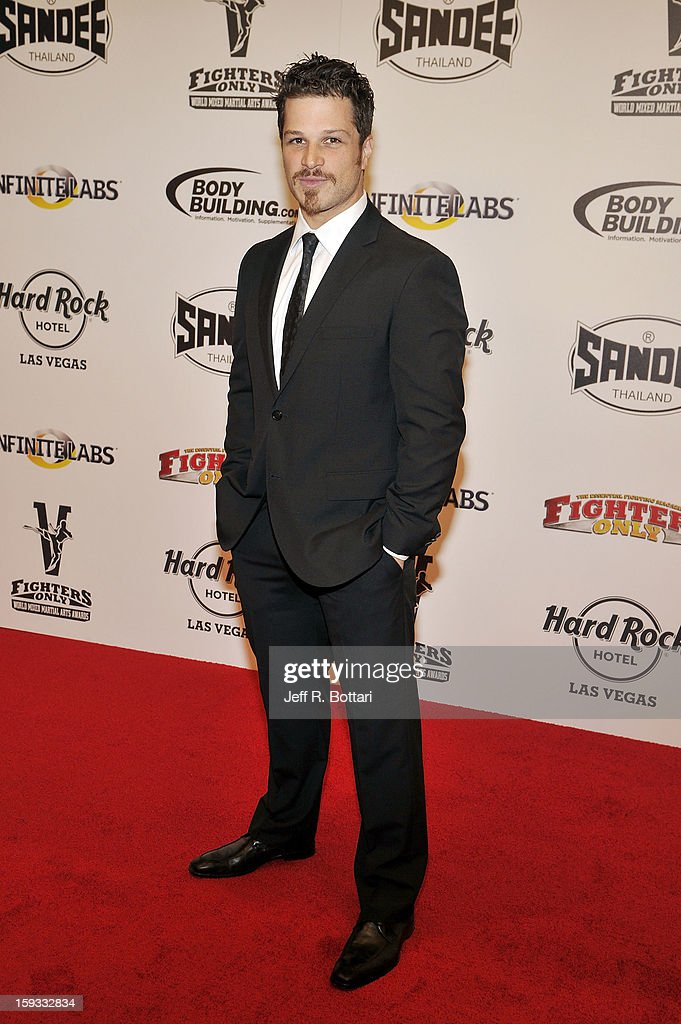 Actor Mark Shunock from Rock of Ages arrives at the Fighters Only World Mixed Martial Arts Awards at the Hard Rock Hotel & Casino on January 11, 2013 in Las Vegas, Nevada.