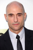 Actor Mark Strong attends the AMC's New Series 'Low Winter Sun' Los Angeles premiere held at ArcLight Hollywood on July 25 2013 in Hollywood...