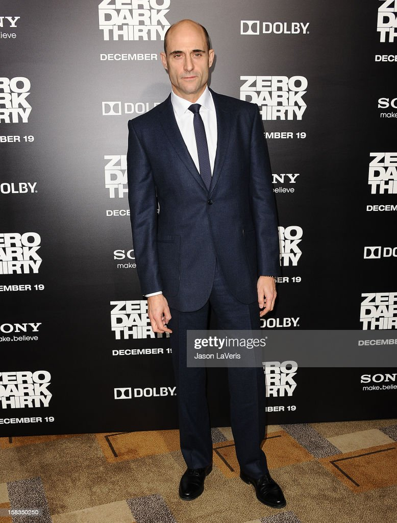 Actor Mark Strong attends the premiere of 'Zero Dark Thirty' at the Dolby Theatre on December 10, 2012 in Hollywood, California.