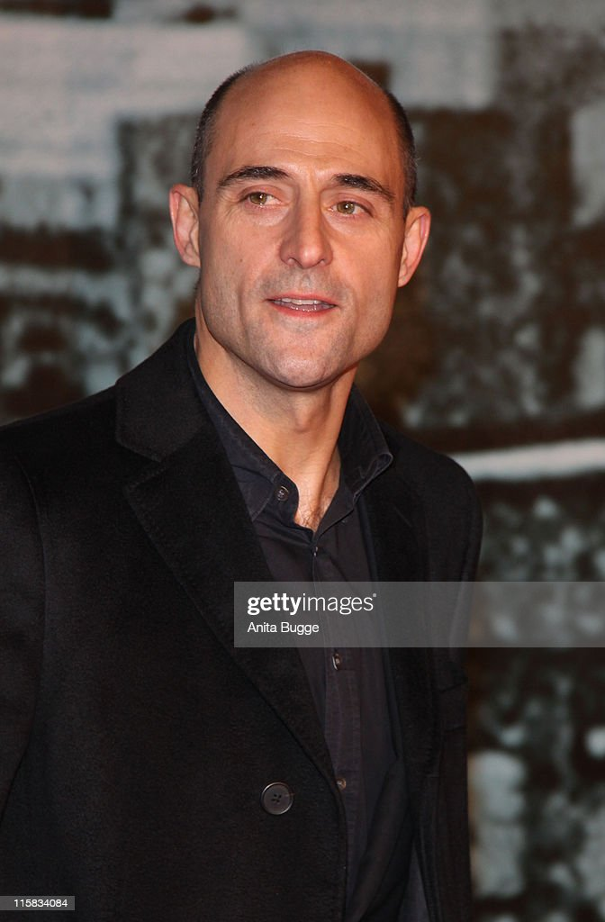 Actor Mark Strong attends the 'Sherlock Holmes' German Premiere at the CineStar movie theater on January 12, 2010 in Berlin, Germany.