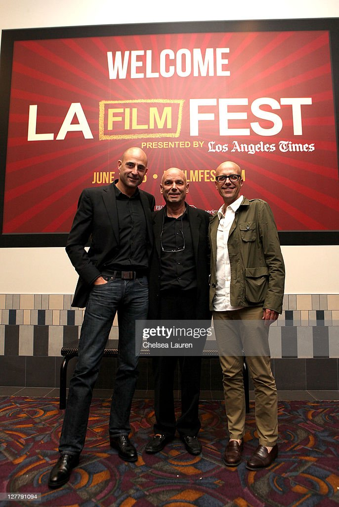 Actor Mark Strong, director Martin Campbell and producer Donald De Line attend the 2011 Los Angeles Film Festival 'Green Lantern' special screening held at Regal Cinemas L.A. Live on June 16, 2011 in Los Angeles, California.