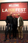 Actor Mark Strong director Martin Campbell and producer Donald De Line attend the 2011 Los Angeles Film Festival 'Green Lantern' special screening...