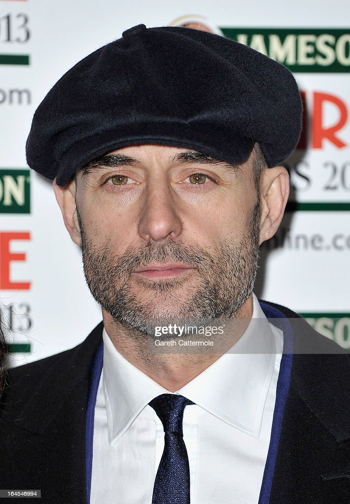 Actor Mark Strong is pictured arriving at the Jameson Empire Awards at Grosvenor House on March 24, 2013 in London, England.