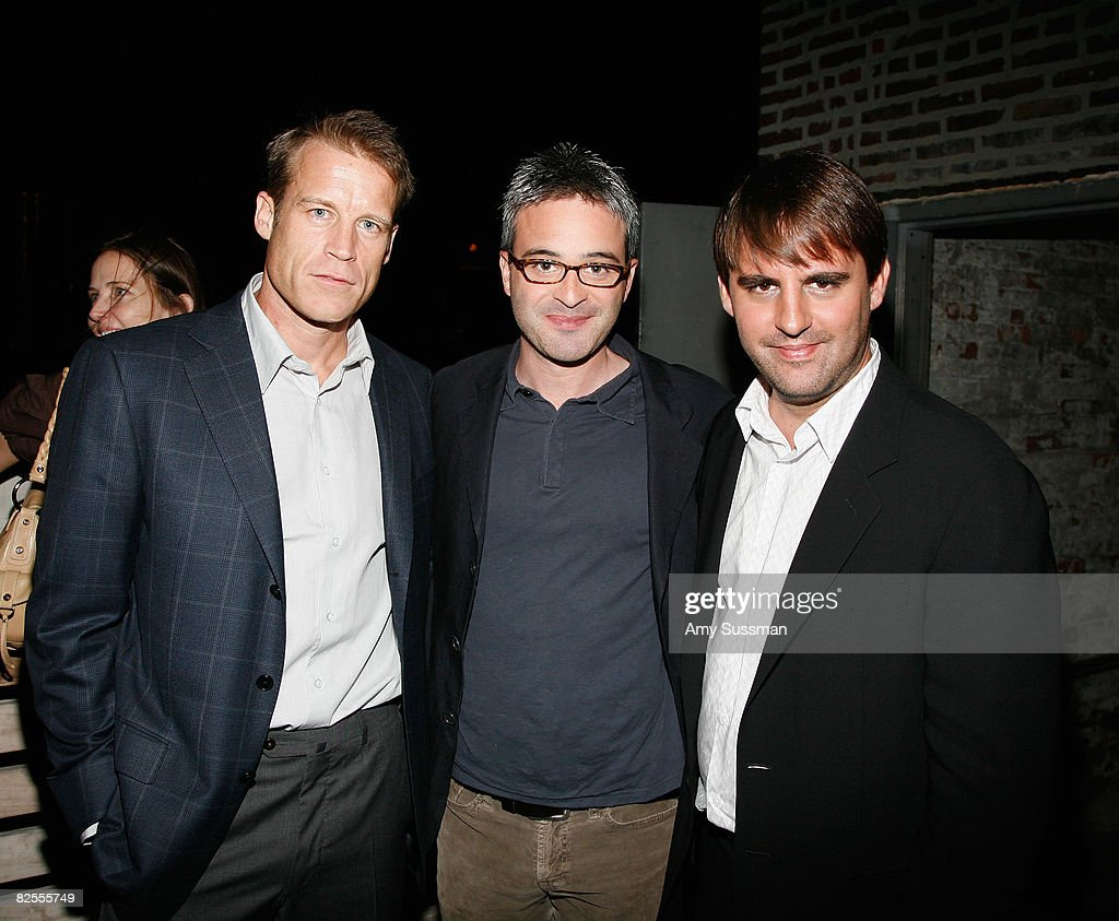 Actor Mark Valley, Co-Creators/Writers/Executive Producers Alex Kurtzman and Roberto Orci attend the 'Fringe' New York Premiere Party at The Xchance on August 25, 2008 in New York City.