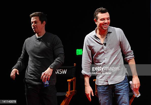 Actor Mark Wahlberg and director Seth MacFarlane attend 'A Conversation with Seth MacFarlane' Panel during the 2012 SXSW Music Film Interactive...