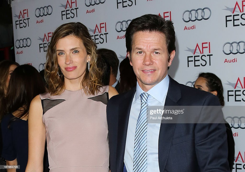 Actor Mark Wahlberg and his Wife Rhea Durham attend the screening of 'Lone Survivor' at AFI FEST 2013 at the TCL Chinese Theatre on November 12 2013...