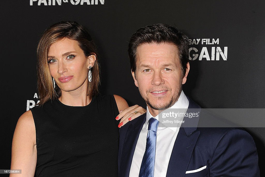 Actor Mark Wahlberg and Rhea Durham attend the 'Pain & Gain' premiere held at TCL Chinese Theatre on April 22, 2013 in Hollywood, California.