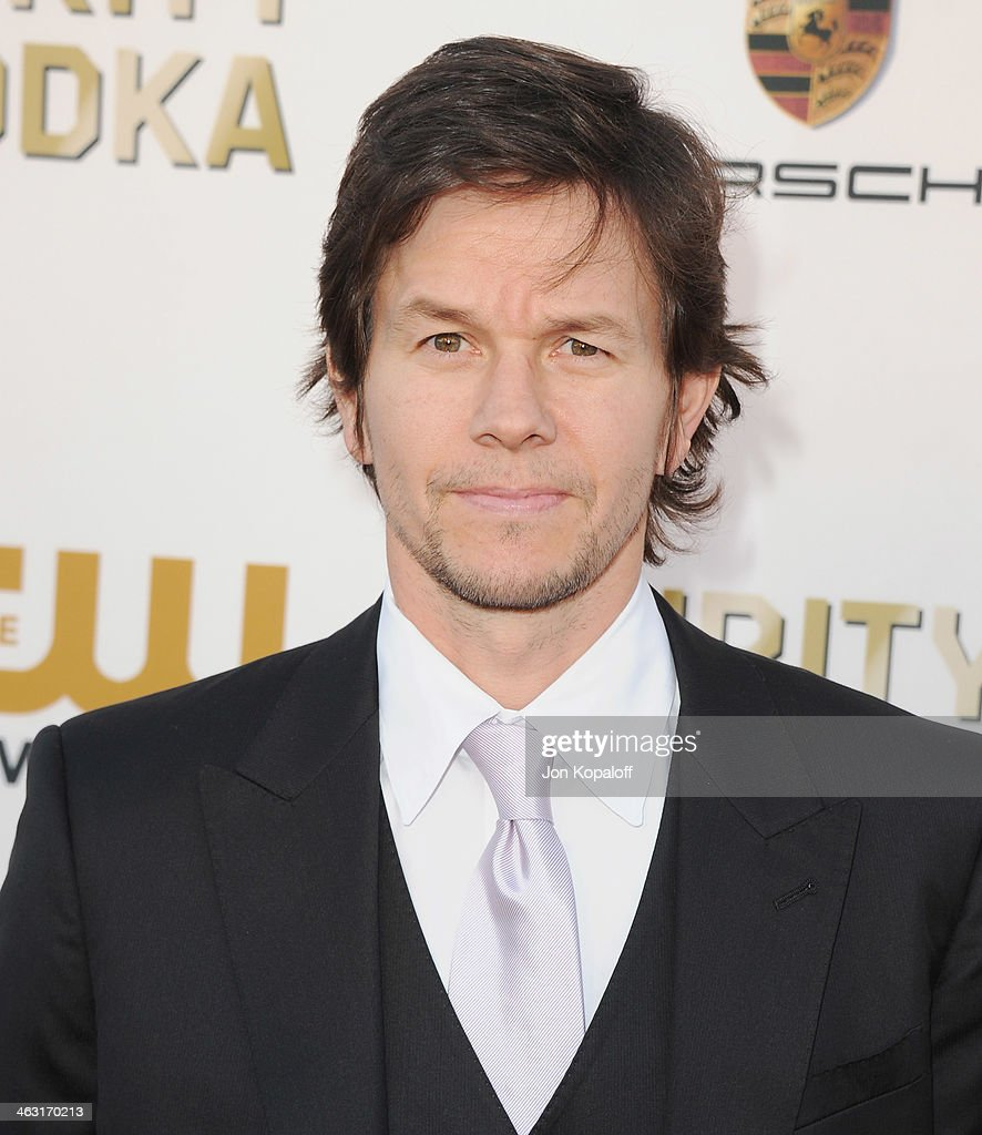 Actor Mark Wahlberg arrives at the 19th Annual Critics' Choice Movie Awards at Barker Hangar on January 16, 2014 in Santa Monica, California.