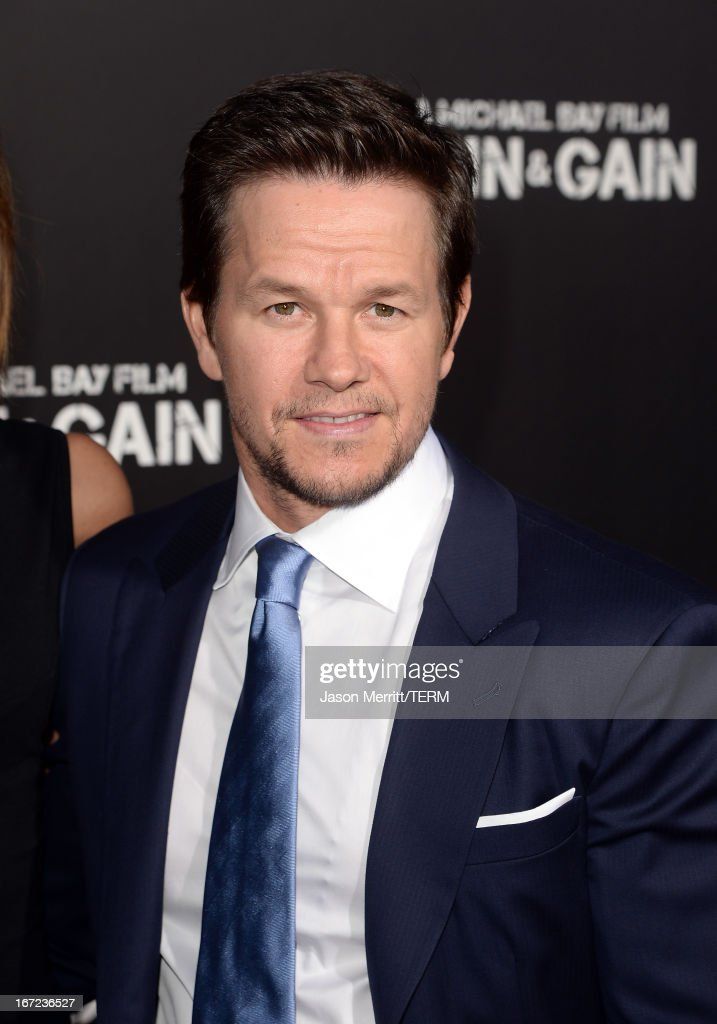Actor <a gi-track='captionPersonalityLinkClicked' href=/galleries/search?phrase=Mark+Wahlberg&family=editorial&specificpeople=202265 ng-click='$event.stopPropagation()'>Mark Wahlberg</a> arrives at the premiere of Paramount Pictures' 'Pain & Gain' at TCL Chinese Theatre on April 22, 2013 in Hollywood, California.