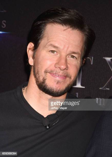Actor Mark Wahlberg at CinemaCon 2017 The State of the Industry Past Present and Future and STX Films Presentation at The Colosseum at Caesars Palace...