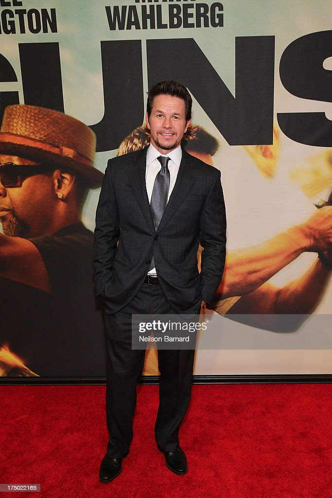 Actor <a gi-track='captionPersonalityLinkClicked' href=/galleries/search?phrase=Mark+Wahlberg&family=editorial&specificpeople=202265 ng-click='$event.stopPropagation()'>Mark Wahlberg</a> attends the '2 Guns' New York Premiere at SVA Theater on July 29, 2013 in New York City.