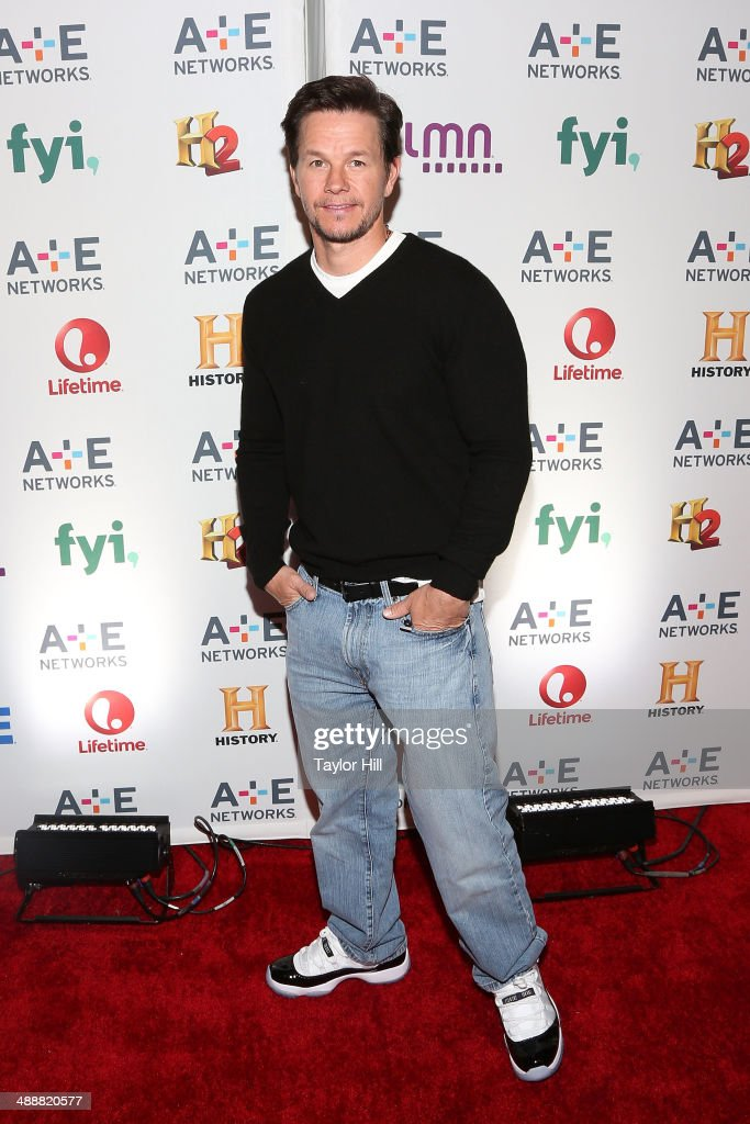 Actor <a gi-track='captionPersonalityLinkClicked' href=/galleries/search?phrase=Mark+Wahlberg&family=editorial&specificpeople=202265 ng-click='$event.stopPropagation()'>Mark Wahlberg</a> attends the 2014 A+E Networks Upfronts at Park Avenue Armory on May 8, 2014 in New York City.