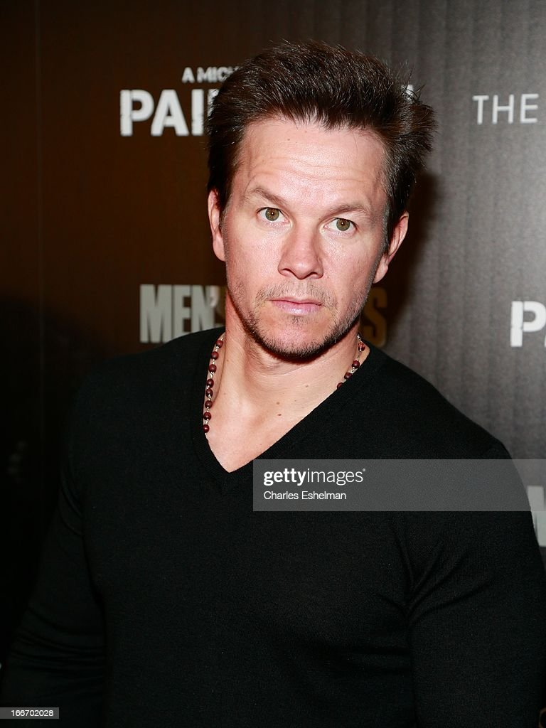 Actor <a gi-track='captionPersonalityLinkClicked' href=/galleries/search?phrase=Mark+Wahlberg&family=editorial&specificpeople=202265 ng-click='$event.stopPropagation()'>Mark Wahlberg</a> attends The Cinema Society and Men's Fitness screening of 'Pain and Gain' at the Crosby Street Hotel on April 15, 2013 in New York City.