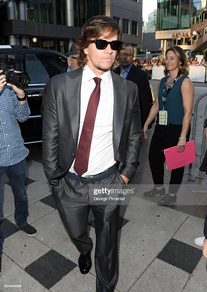 Actor Mark Wahlberg attends the 'Deepwater Horizon' premiere during the 2016 Toronto International Film Festival at Roy Thomson Hall on September 13, 2016 in Toronto, Canada.