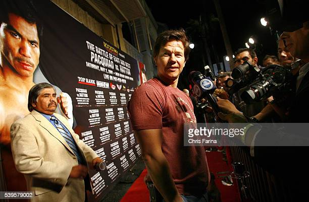 Actor Mark Wahlberg attends the exclusive red carpet Hollywood premiere on Hollywood Boulevard at the Roosevelt Hotel for the upcoming 'The Battle of...