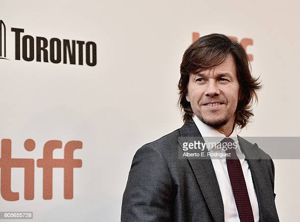 Actor Mark Wahlberg attends the premiere of 'Deepwater Horizon' as part of the Toronto International Film Festival at Roy Thomson Hall on September...