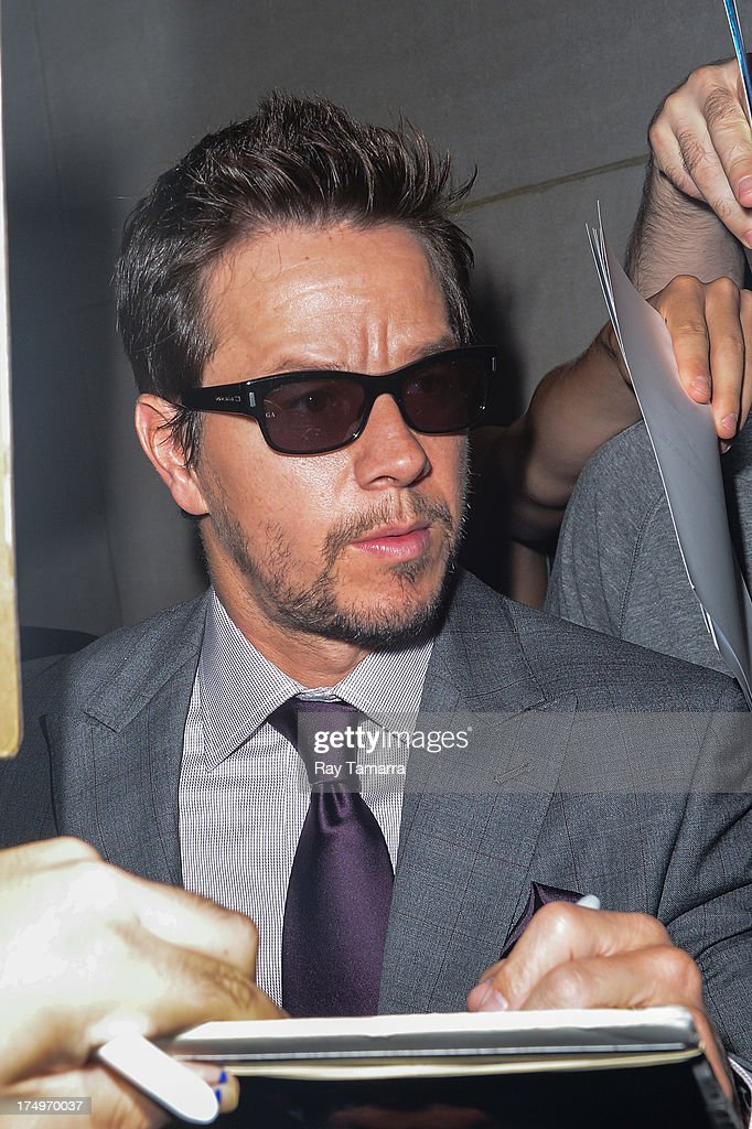 Actor <a gi-track='captionPersonalityLinkClicked' href=/galleries/search?phrase=Mark+Wahlberg&family=editorial&specificpeople=202265 ng-click='$event.stopPropagation()'>Mark Wahlberg</a> enters the 'Today Show' taping at the NBC Rockefeller Center Studios on July 29, 2013 in New York City.