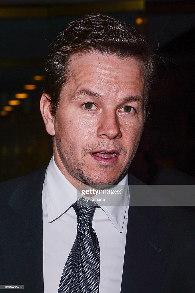 Actor <a gi-track='captionPersonalityLinkClicked' href=/galleries/search?phrase=Mark+Wahlberg&family=editorial&specificpeople=202265 ng-click='$event.stopPropagation()'>Mark Wahlberg</a> leaves the 'Today Show' taping at the NBC Rockefeller Center Studios on January 15, 2013 in New York City.