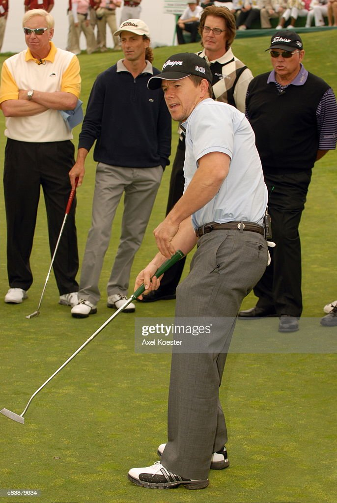Actor Mark Wahlberg plays in the Ninth Annual Michael Douglas Friends Celebrity Golf Tournament at the Trump National Golf Club in Rancho Palos...