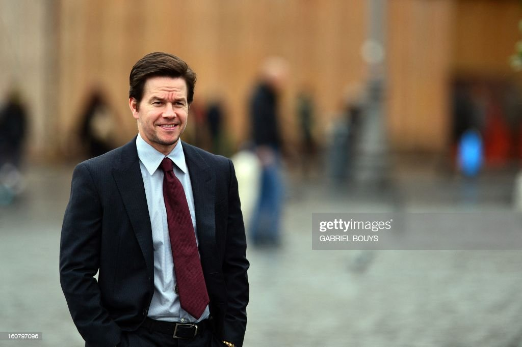 US actor Mark Wahlberg poses on February 06, 2013 in Rome, during a photo-call to promote his new film 'Broken City'.
