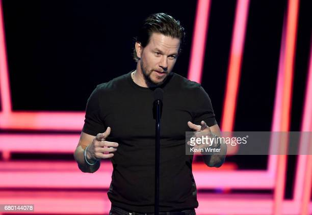 Actor Mark Wahlberg speaks onstage during the 2017 MTV Movie And TV Awards at The Shrine Auditorium on May 7 2017 in Los Angeles California