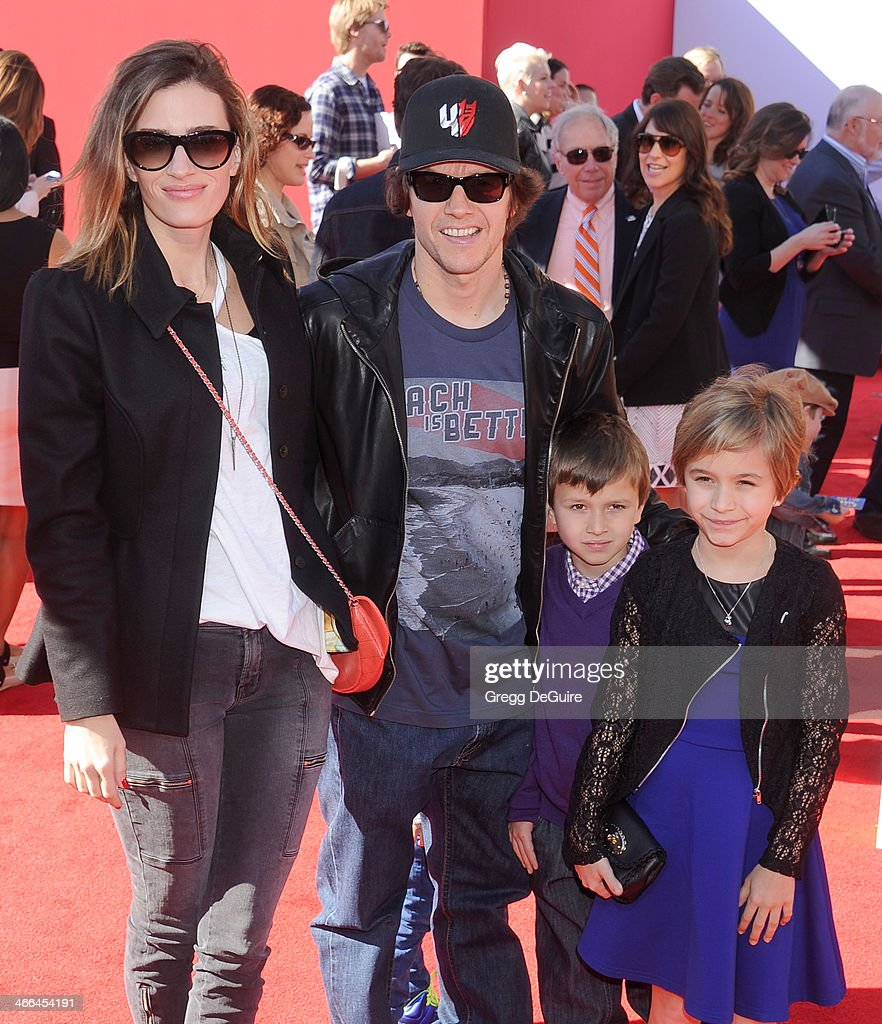 Actor <a gi-track='captionPersonalityLinkClicked' href=/galleries/search?phrase=Mark+Wahlberg&family=editorial&specificpeople=202265 ng-click='$event.stopPropagation()'>Mark Wahlberg</a>, wife <a gi-track='captionPersonalityLinkClicked' href=/galleries/search?phrase=Rhea+Durham&family=editorial&specificpeople=1541110 ng-click='$event.stopPropagation()'>Rhea Durham</a> and kids arrive at the Los Angeles premiere of 'The Lego Movie' at Regency Village Theatre on February 1, 2014 in Westwood, California.