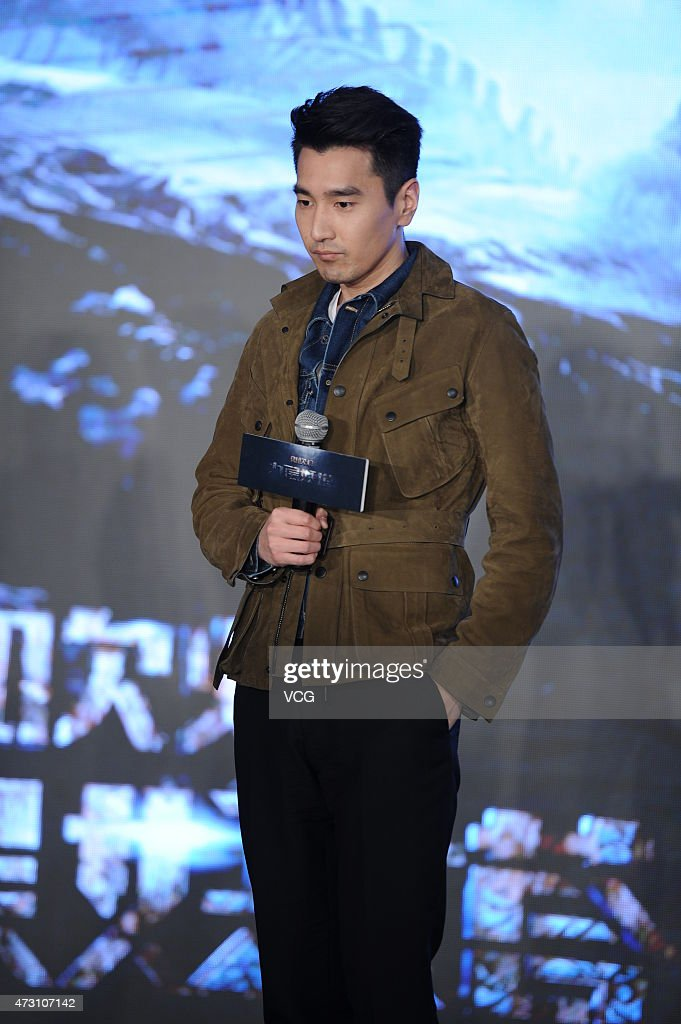 Actor <a gi-track='captionPersonalityLinkClicked' href=/galleries/search?phrase=Mark+Zhao&family=editorial&specificpeople=969876 ng-click='$event.stopPropagation()'>Mark Zhao</a> attends director Lu Chuan's new movie 'Ghost Blows Out the Light' press conference on May 12, 2015 in Shanghai, China.