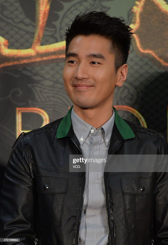 Actor <a gi-track='captionPersonalityLinkClicked' href=/galleries/search?phrase=Mark+Zhao&family=editorial&specificpeople=969876 ng-click='$event.stopPropagation()'>Mark Zhao</a> attends the booting press conference of director Matthias Hoene's new film 'Door Of the Worrior' on April 17, 2015 in Beijing, China.