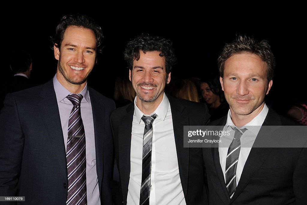 Actor Mark-Paul Gosselaar (L) and Breckin Meyer (R) attends the 2013 TNT/TBS Upfront presentation at Hammerstein Ballroom on May 15, 2013 in New York City.