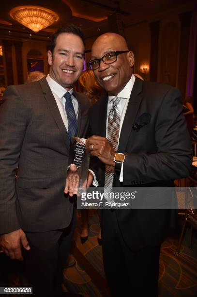Actor MarkPaul Gosselaar and honoree Paris Barclay attend Aviva Family And Children's Services' A Gala at the Beverly Wilshire Four Seasons Hotel on...