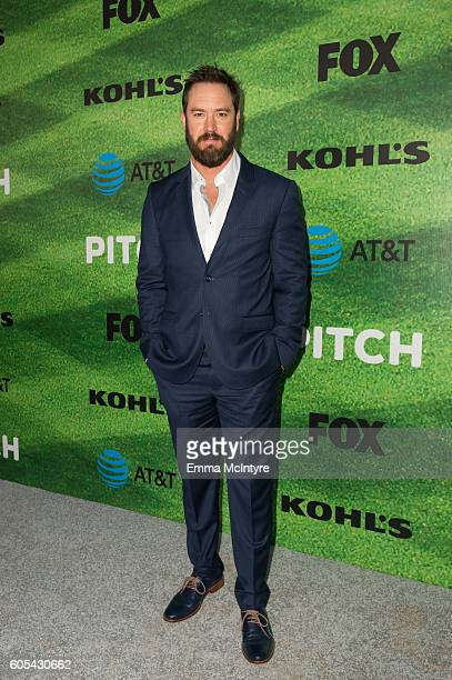 Actor MarkPaul Gosselaar arrives at the premiere of Fox's 'Pitch' at West LA Little League Field on September 13 2016 in Los Angeles California