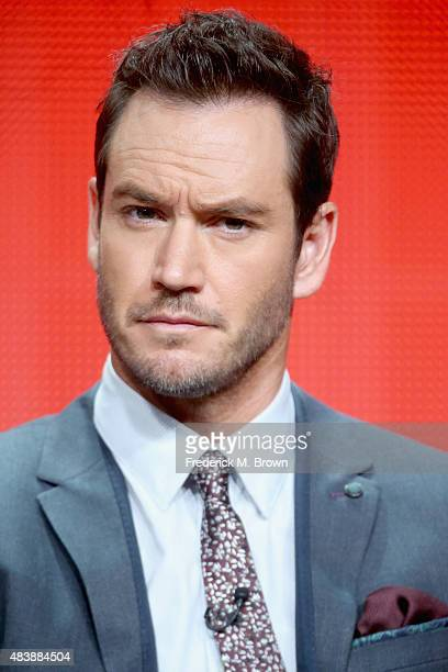 Actor MarkPaul Gosselaar speaks onstage during NBC's 'Truth Be Told' panel discussion at the NBCUniversal portion of the 2015 Summer TCA Tour at The...