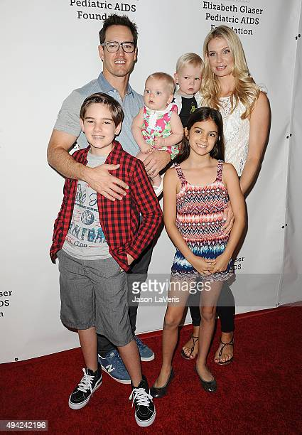 Actor MarkPaul Gosselaar wife Catriona McGinn and children attend the Elizabeth Glaser Pediatric AIDS Foundation's 26th A Time For Heroes family...
