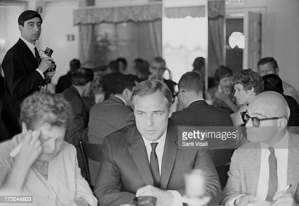 Actor Marlon Brando during a press conference on April 41965 in New York New York