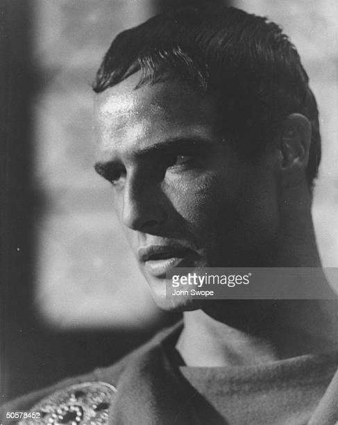 Actor Marlon Brando in Julius Caesar