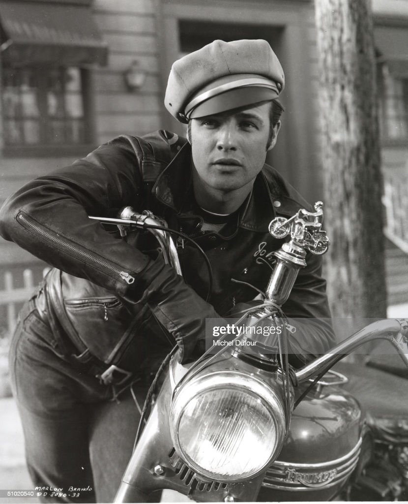 Actor Marlon Brando is seen in this undated photo for the movie The Wild One Brando's attorney announced July 2 2004 that the 80 yearold actor died...